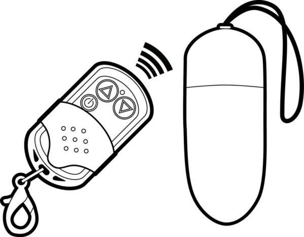 Kaugjuhitavad Glossy Egg vibraator pulti võib kasutada võtmehoidjana