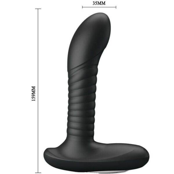 Must anaalvibraator keerlevate pärlikestega