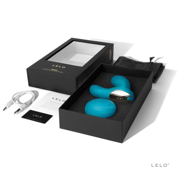 Luksuslik eesnäärmevibraator Lelo Hugo Ocean Blue