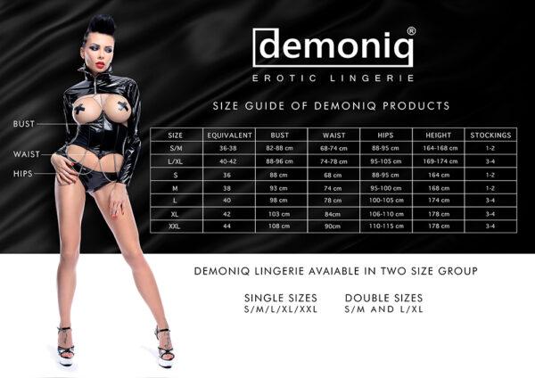 Demoniq pesukollektsioonide suuruste tabel
