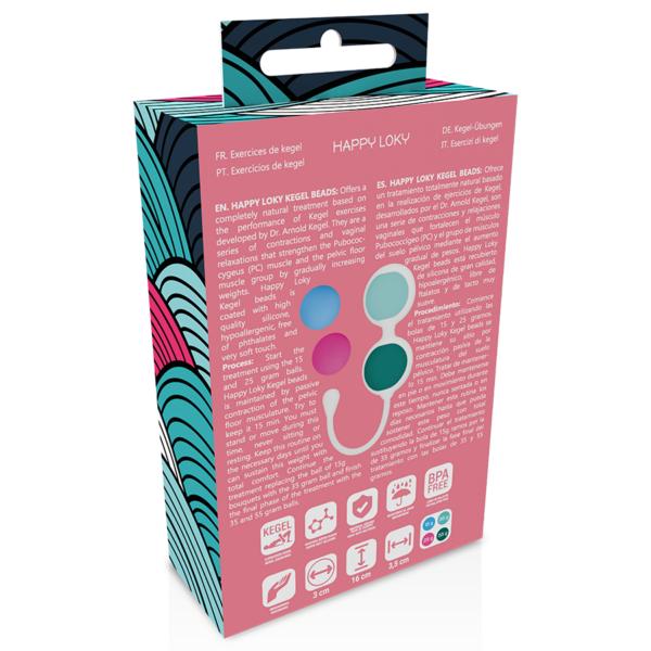 Vahetatavate raskustega tupekuulide komplekt Happy Loky Kegel Beads