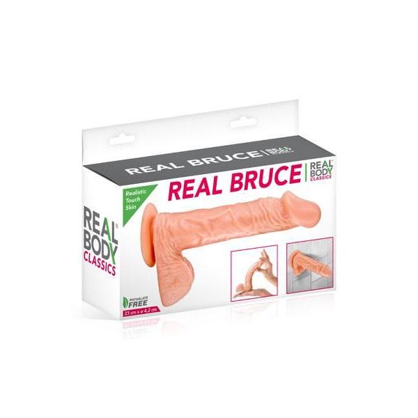 Realbody Real Bruce on suuremat mõõtu dildo, mille kogupikkuseks 23cm