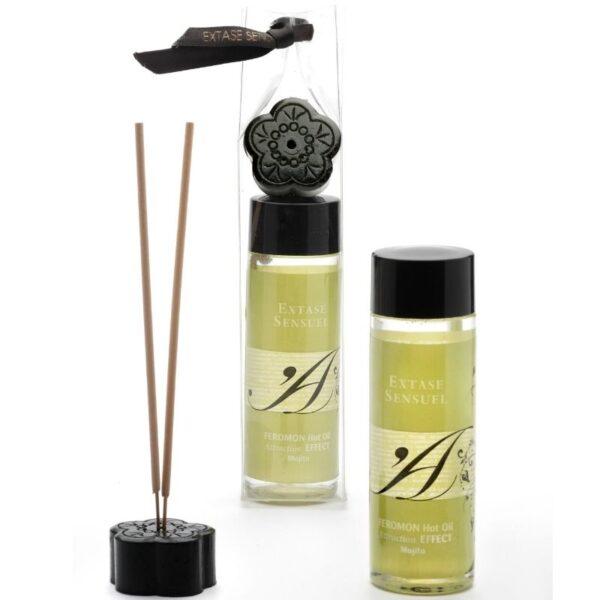 Feromoonidega massaažiõli Extase Sensuel Mojito (kaasas lõhnapulgad)