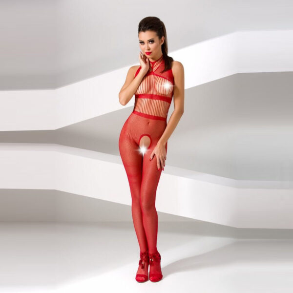 Avatud kehasukk Passion BS048 (punane)