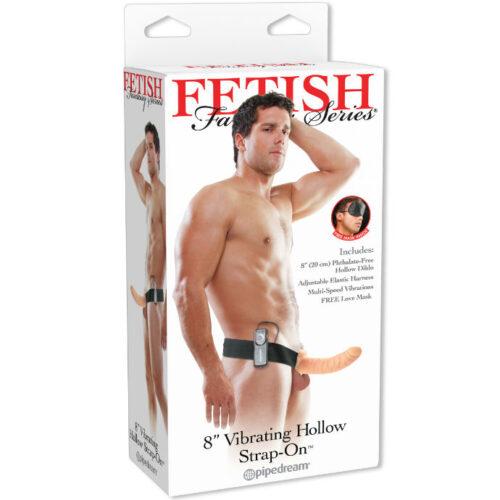 Fetish Fantasy Series vibreeriv 8-tolline õõnes strap-on dildo